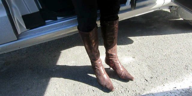 geting out of the car ion boots