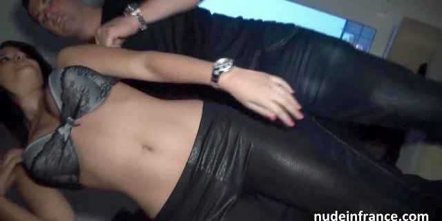 Young amateur busty french babe riding a cock
