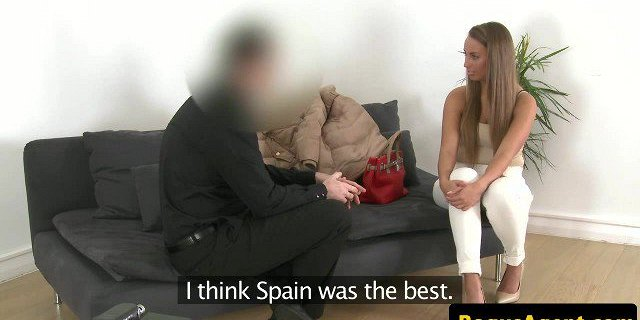 Euro amateur fucked by agent during casting