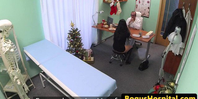 Patient feels better after doctor fucks pussy