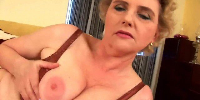 Granny with big tits and hairy pussy