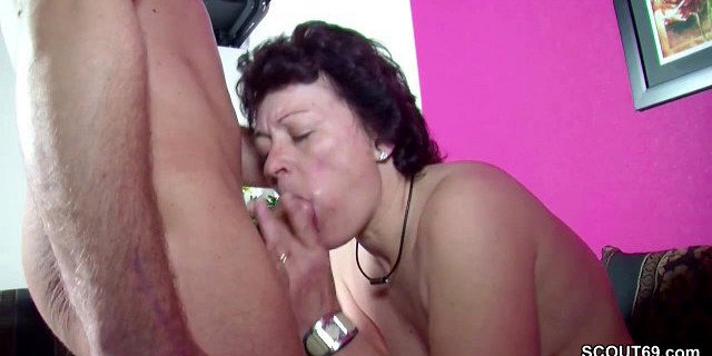 He Caught German Step-Mom Masturbate and Get His First Fuck