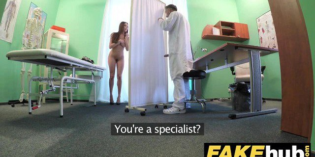 Fake Hospital Tall brunette patient with big natural tits
