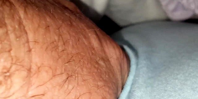 playing with her tired pubic hair & big tit