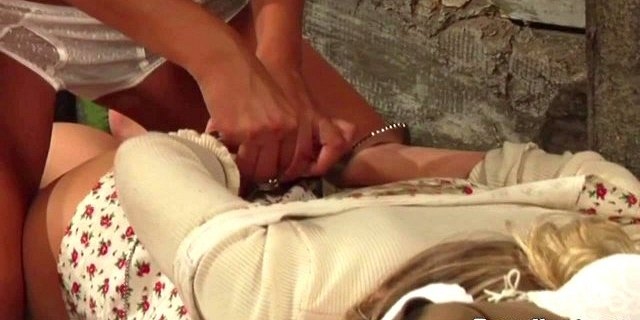 Female mistress finds another kissing playmate