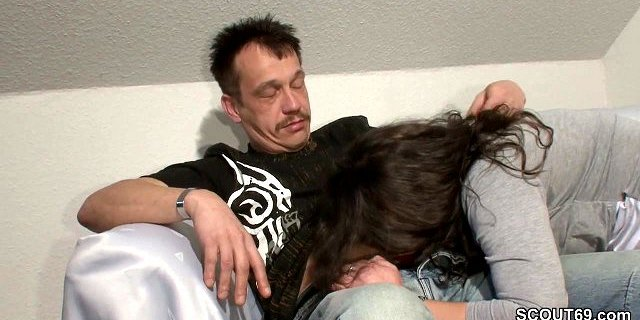 German Daddy Seduce Step-Daughter to Fuck when Mom away