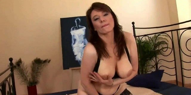 Hot milf with big tits gets fucked
