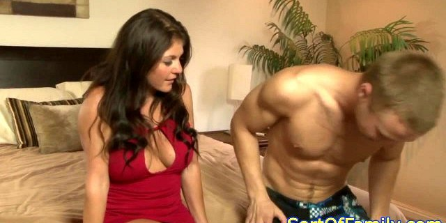 Busty motherinlaw squirts before cockriding