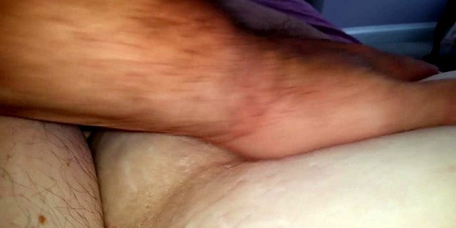 playing with my cock,rub her soft bush,belly,ripe nipple