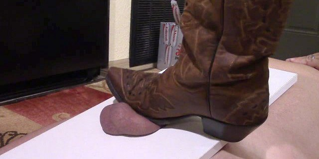 Ballbusting CBT Cock Stomping in Cowgirl Boots