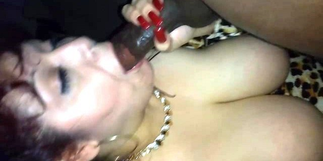 Rae Lynn sucking a huge BBC to completion