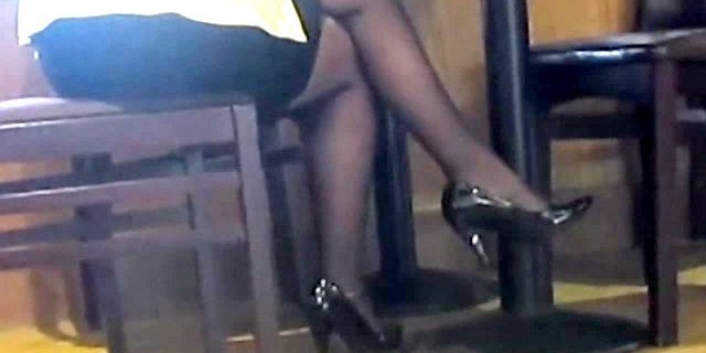 Gold Candid Legs #13