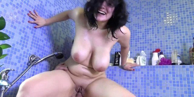 Busty Mature Anal And Facial In Bath Room