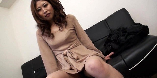 Solo act with a very cute Asian babe who