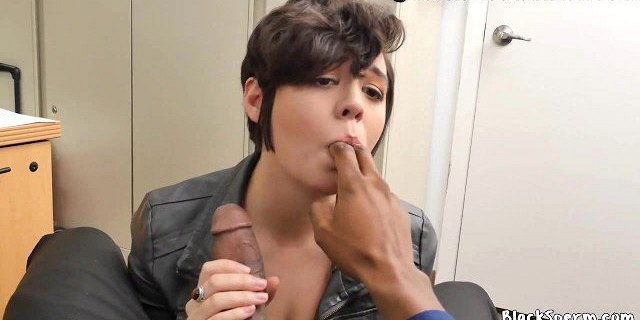Sucking Black Cock in casting call