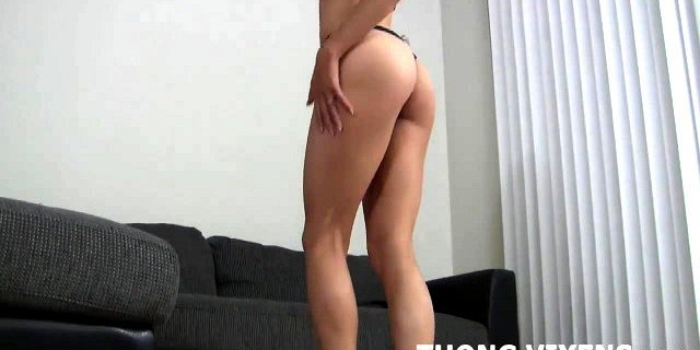 Here, let me model my new thong while you jerk off JOI