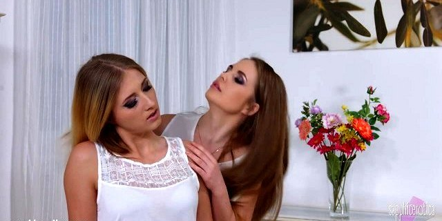 Flower Blossom by Sapphic Erotica - lesbian love porn with