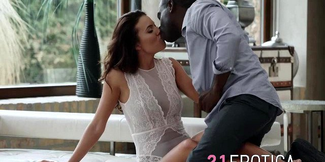 Hot brunette Vanessa gets pussy owned by big fat monster
