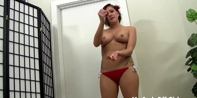 Shoot a hot load of cum on my titties JOI