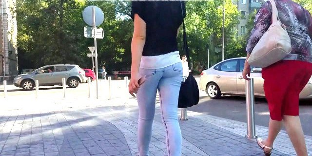 russian blonde with hot ass