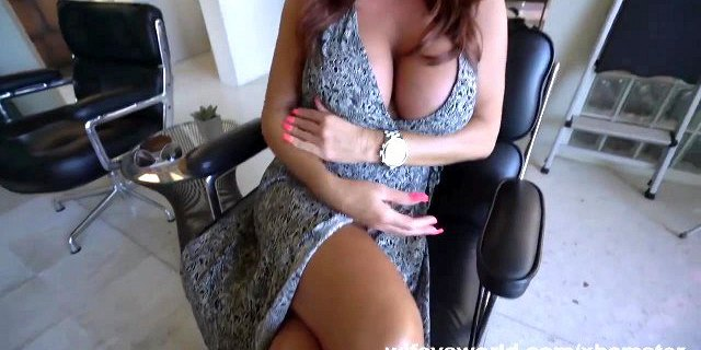 Tanned Busty MILF Sucks Cock And Swallows Cum Shot