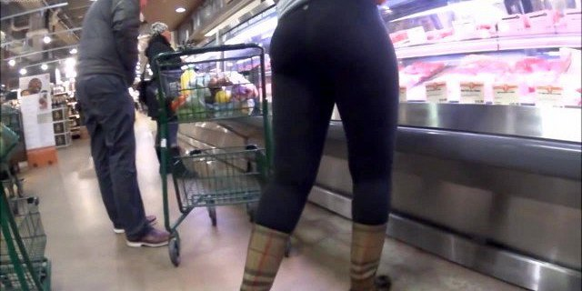 Candid Slo-Mo Ass in Black Leggings