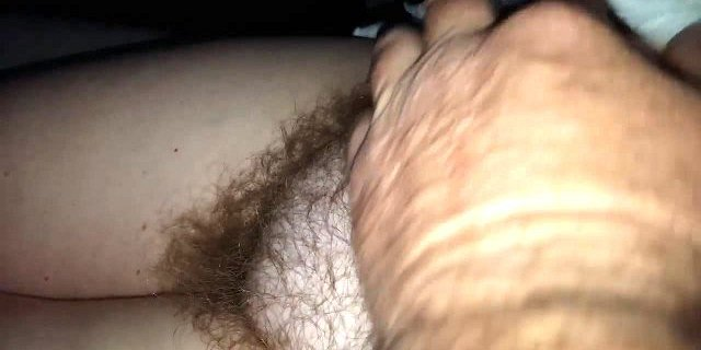 her soft pubic hair & soft belly early am