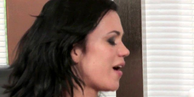 Two hot interracial lesbians play with sex toys and strapon