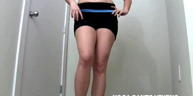 I will give you a handjob in my tight white yoga pants JOI