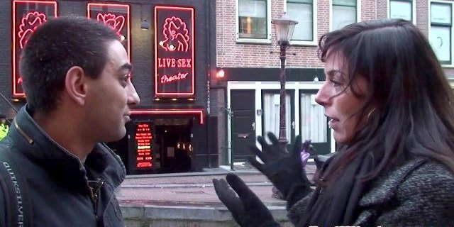 Amsterday hookers in threeway action with lucky tourist