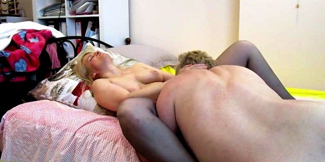 Tania Russian Blonde MILF whore gets pussy eaten