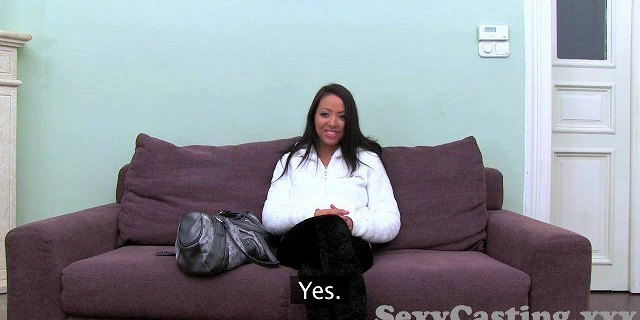 Casting HD Blonde takes anal creampie in interview