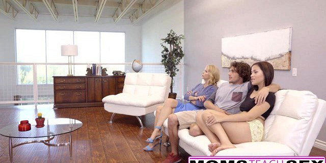 MomsTeachSex - Mom Caught Me With My GF And Joins