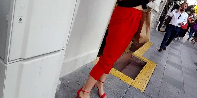 her sexy long slender feets in open high heels