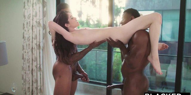 BLACKED Evelyn Claire takes on two BBC