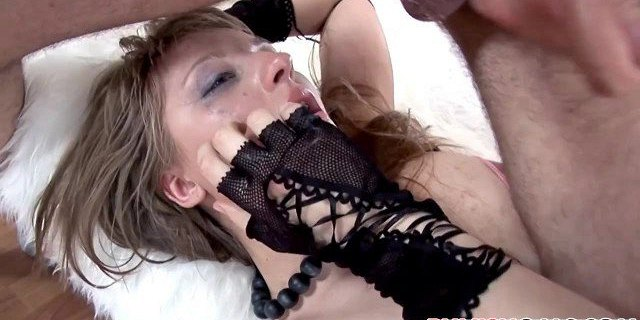 Teen Karla gets all holes used and abused