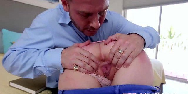 Leigh Rose gets her big butt spanked and her pussy slammed
