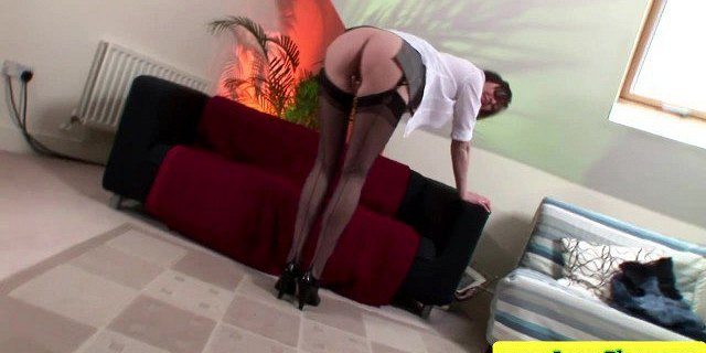 Mature stockings bouncing on cock