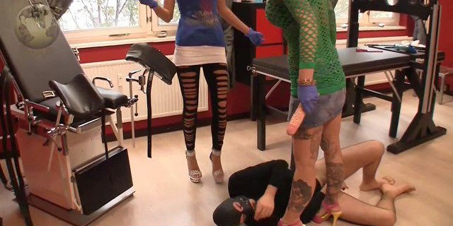 Guy gets humiliated by two mistresses
