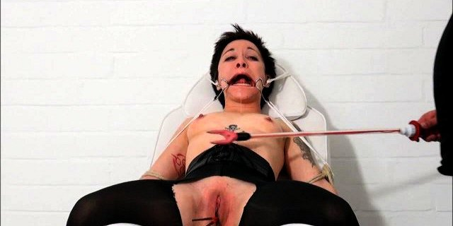 Medical fetish and humiliation of tied asian patient Mei Mar