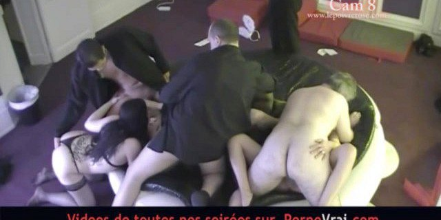 French Swingers party in a private club ! Part 6