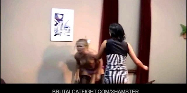 Lesbian beats her girl for watching to a male