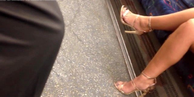 Candid MILF Feet In High Heels - Gorgeous Toes and Legs