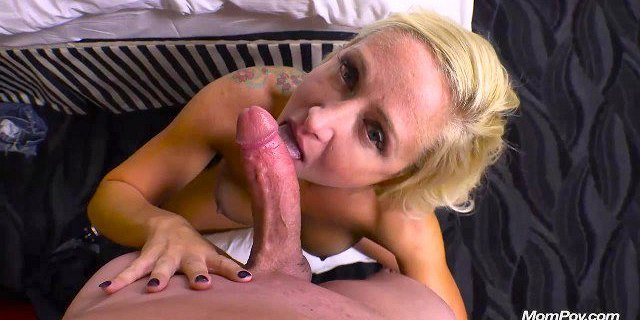 Blonde milf gets fucked in her ass and facial