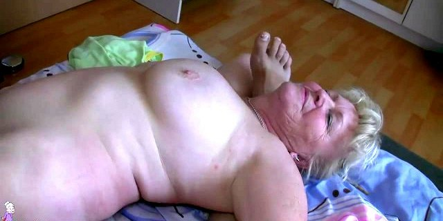 OldNanny Mature with big boobs masturbate with chubby Granny