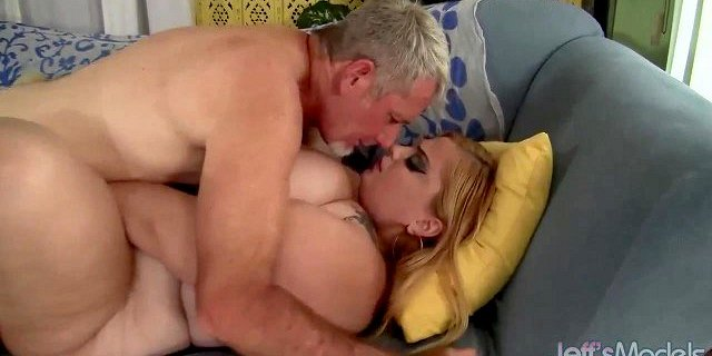 Fat Blonde Babe Sasha Juggs Is Fucked Hard by a Horny Guy