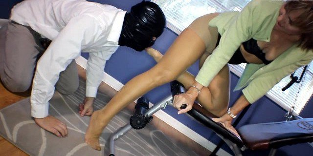 Mature Dominant Milf Loves Pantyhose Tease and Chastity