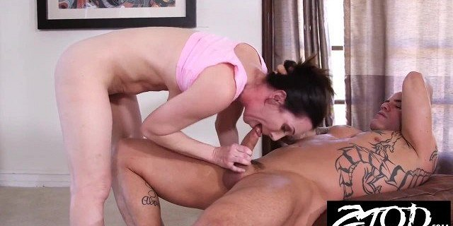Hot big tit MILF is fucking her personal trainer
