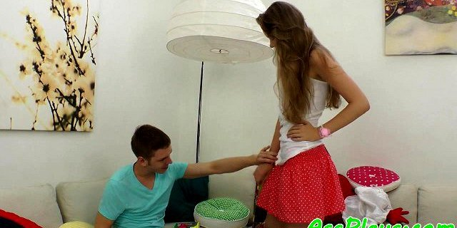 Redhead beauty anally pounded and creampied