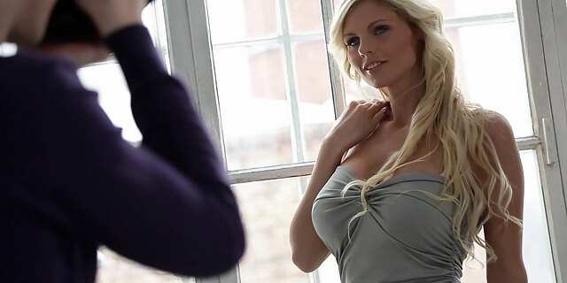 Tall blonde trusted him with the full of her hear